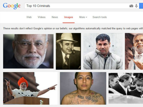Google In Trouble Listing Pm Modi Among Top 10 Criminals The World