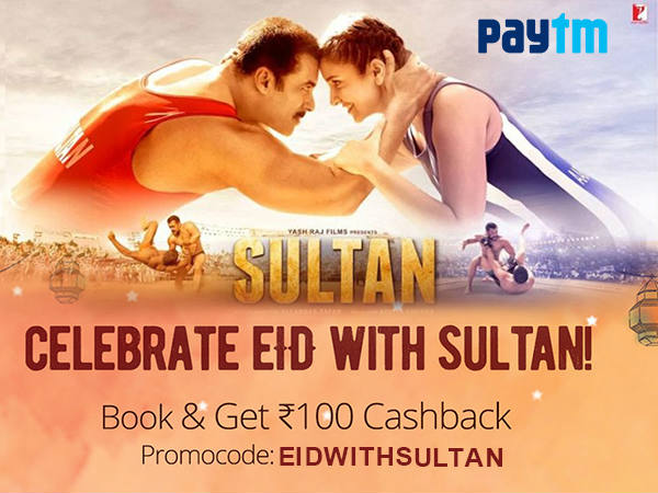 Celebrate Eid With Sultan Book Tickets & Get Flat Rs.100 Cashback