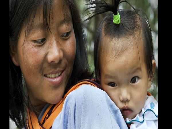 It Is A Series Of Bhutan Children Photos