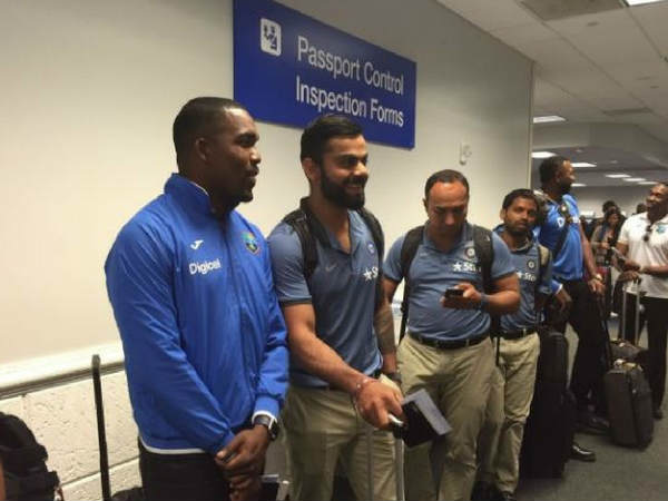 Team India arrive in USA for T20I series against West Indies
