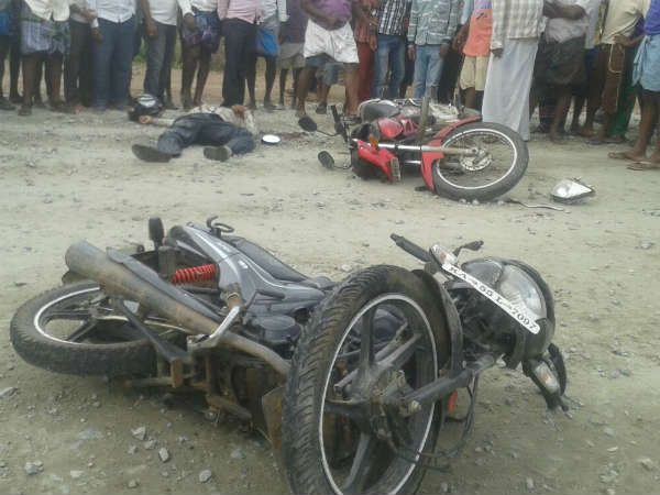 Accident between two bikes, two die in Chamarajanagar
