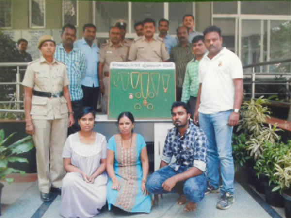 Sanjaynagar police arrest 3 for stealing gold, diamond worth lakhs