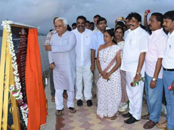 Karwar: Minister R V Deshpande inaugurates water sports at Kali river