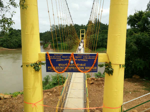 Phaluguni hanging bridge inaugurated by Ramanath, Mangaluru