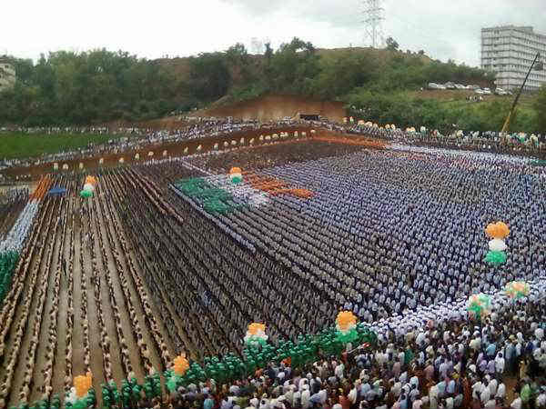 30 thousand people witness for Independence Day at Always College
