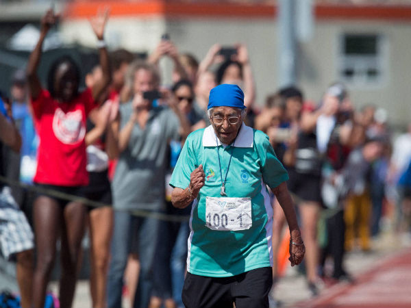 100-year-old Indian runner Man Kaur wins gold medal at American Masters Games