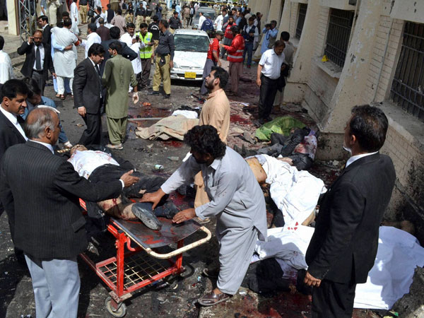 Explosion in Pakistan hospital; 55 killed, over 100 injured