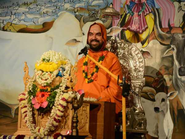 Gochaturmasa 40th day programme, Raghaveshwara Seer speech