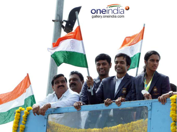 Gopichanda and Sindhu in Hyderabad