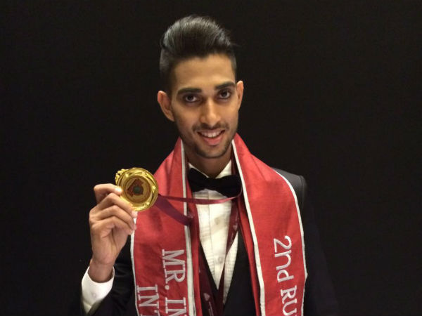Alester D'Souza wins 2nd runner-up in India Manhunt International
