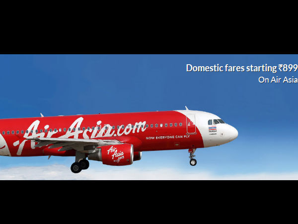 Air Asia Big Sale! Pick All Your Domestic Flight Tickets Only at Rs.899