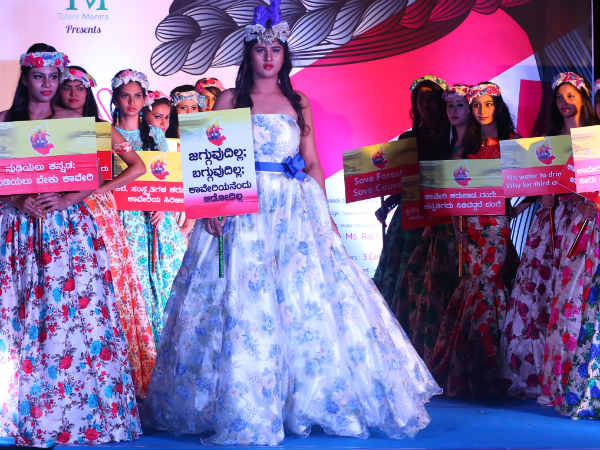 Catwalk by beautiful models for Cauvery water