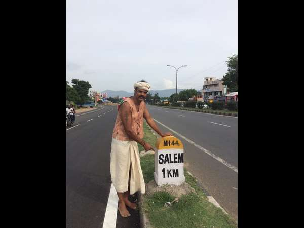 Man runs, cycles barefoot from Bangalore to Coimbatore