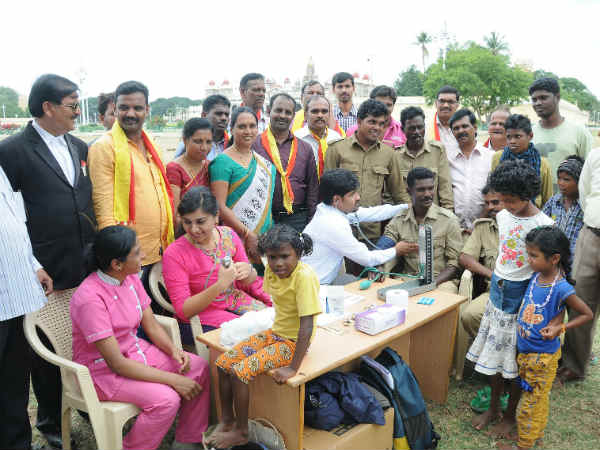 Mahout, Kavaadi health checkup camp in Mysore
