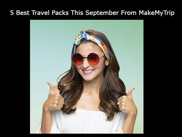 Cash back, discount offer from Make my trip