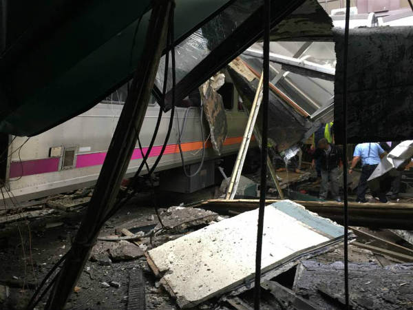 Train crashes into New Jersey Transit Hoboken station
