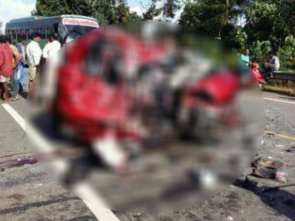 Karkala taluk mother and son died in an accident