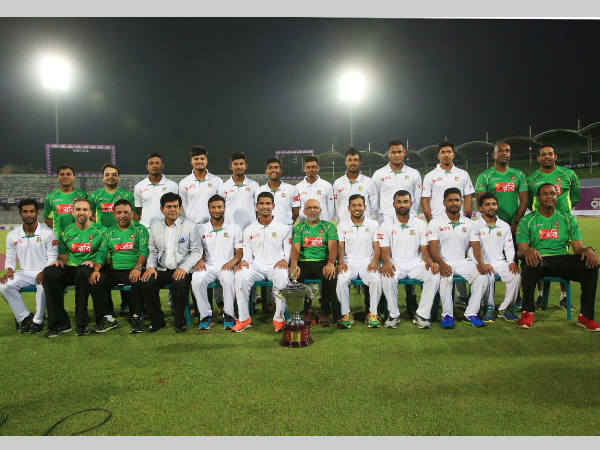 Bangladesh celebrates after historic Test win against England