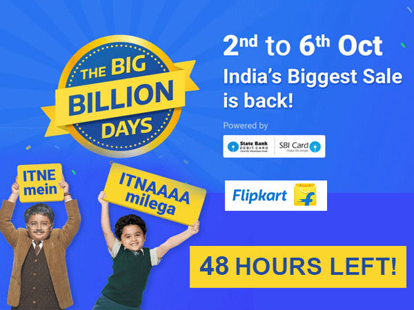 ONLY 48 HOURS LEFT! Flipkart Big Billion Day Sale