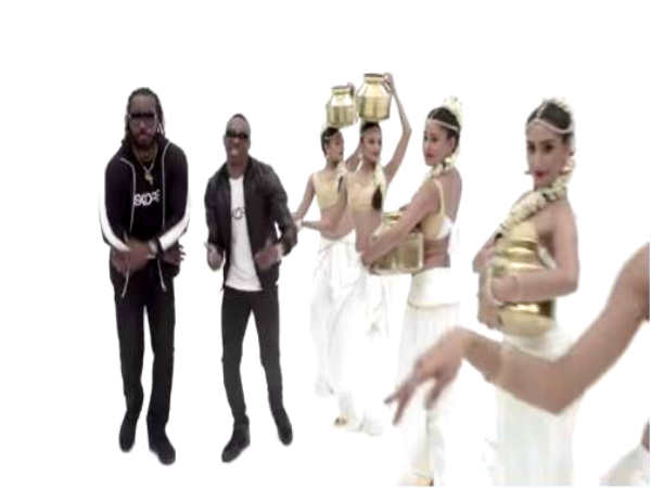 Dwayne Bravo, Chris Gayle promote SKORE condoms with Indian version of Champion song