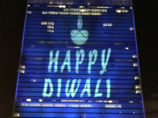 UN lights up for Diwali for the first time