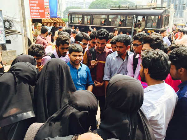 Denial of hall ticket, students satge protest against Milagres college principal