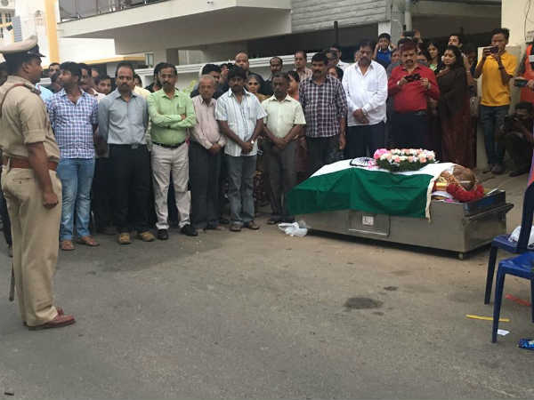 M B Singh body will be donated to the M S Ramaiah Medical College Hospital