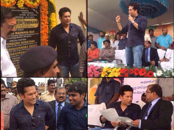 Sachin Tendulkar returns to a transformed Andhra village