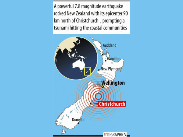 Tsunami hits New Zealand after powerful earthquake