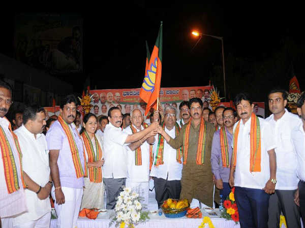Congress leader M. Nagaraj join bjp