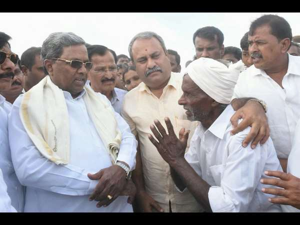 CM Siddaramaiah Tumakuru visit for drought effect