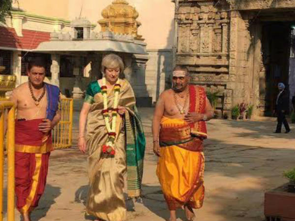 Britain PM Theresa may visits historical Someshwara Temple