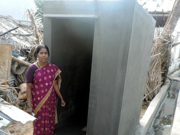 Built the toilet in one day in mangala in chamrajnagar