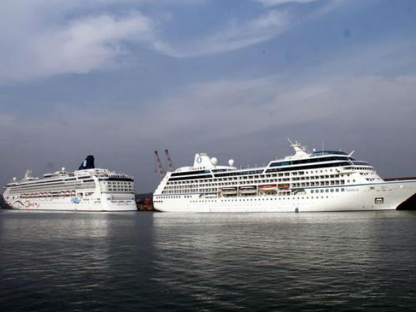 Two cruise vessels arrive at New Mangalore Port