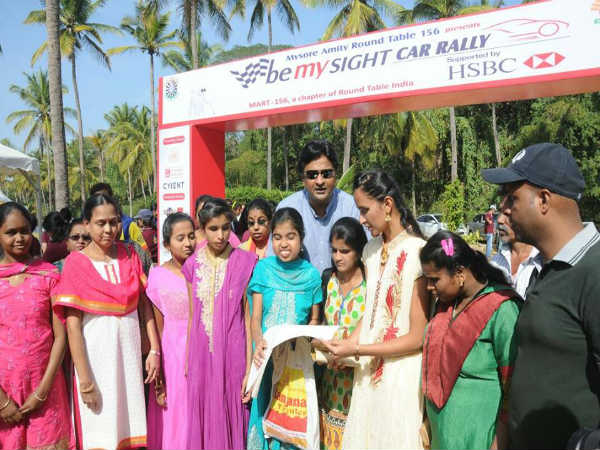 Encouragement for blinds 'Be My Site car rally' held in mysur