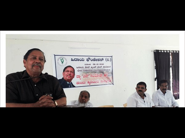 Former Lokayukta N Santosh Hegde visits to share and care area mangaluru