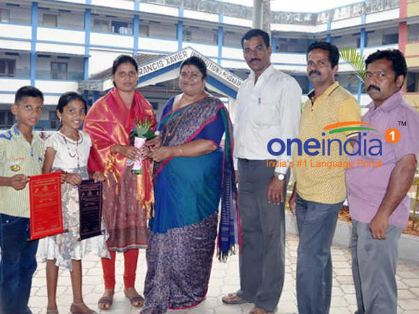 udupi St Francis School teacher Sunita D'Souza wins 2 medals in state Athletics