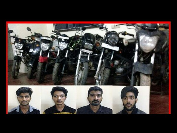 Mangaluru CCB police arrests 4 notorious vehicle thieves