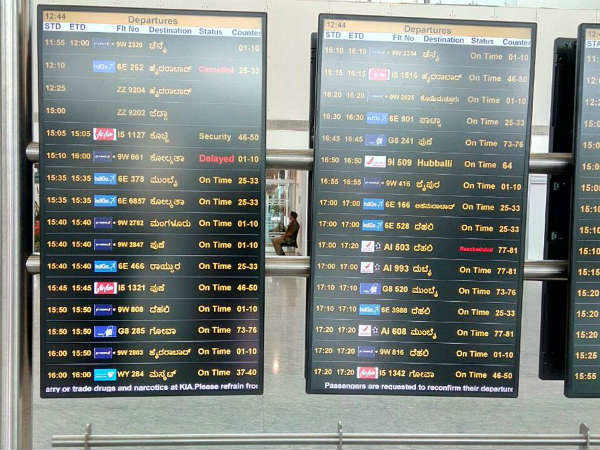 Flight information available in Kannada at Kempegowda airport