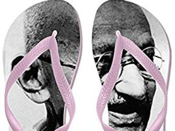 After flag incident, slippers with Mahatma Gandhi image now on Amazon