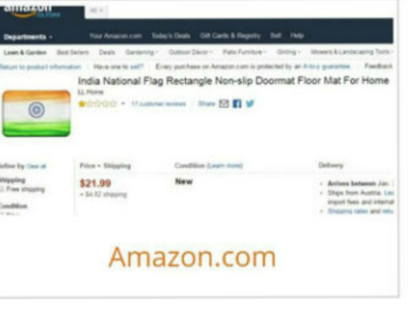 Sushma Swaraj asks Amazon to apologise for insulting national flag