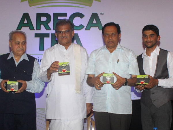 Invitation for Areca tea 1st year Anniversary press meet