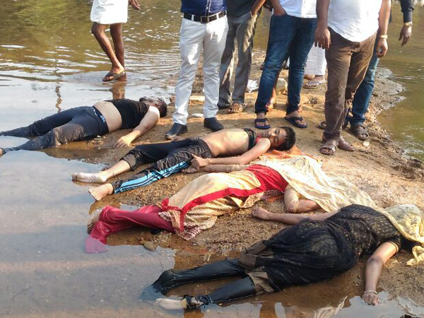 Four members of a family from Kaup drown at Nada village,Belthangadi,
