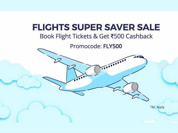 FLIGHT SUPER SAVER SALE! Domestic Fares Start at Rs.789, Get Rs.500 Cashback Hurry