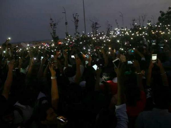 ಜಲ್ಲಿಕಟ್ಟು ಬೆಂಬಲಿಸಿ ಚೆನ್ನೈನ ಮರೀನಾ ಬೀಚ್ ನಲ್ಲಿ ಭಾರೀ ಪ್ರತಿಭಟನೆ