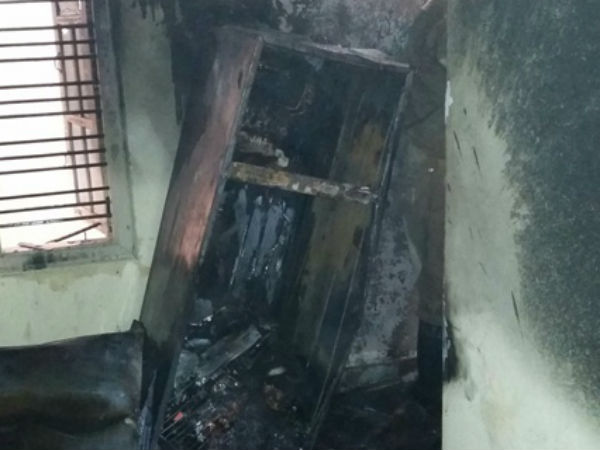 Flowing cooking gar fire incident occurred in Nanjanagudu