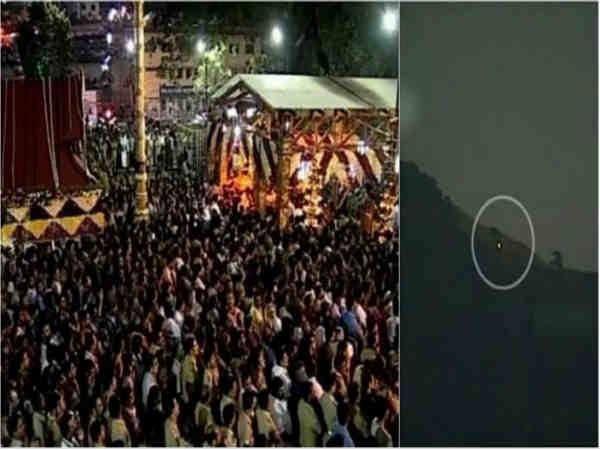 3 ಬಾರಿ ಮಕರ ಜ್ಯೋತಿ ದರ್ಶನ: ಸ್ವಾಮಿಯೇ ಶರಣಂ ಅಯ್ಯಪ್ಪ!