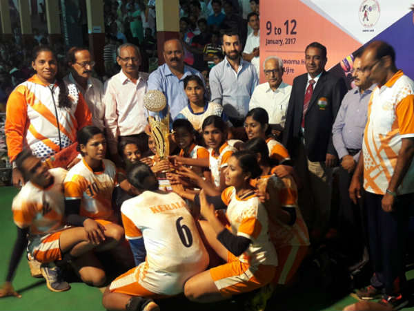 Kerala champion of 62nd national level Under-19 girls volleyball