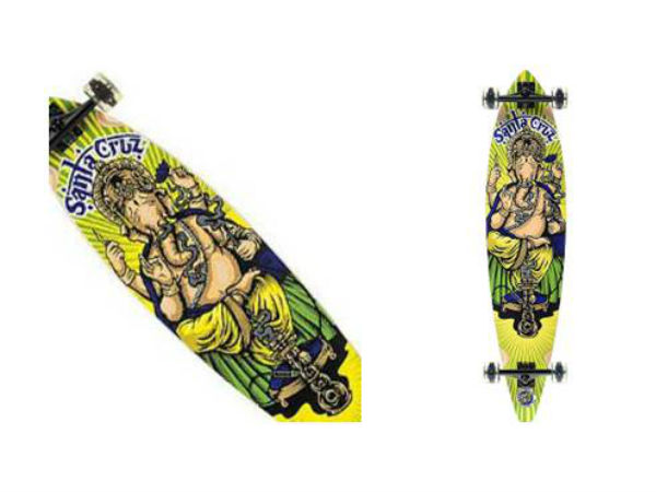 Amazon India selling skateboards with image of Lord Ganesha