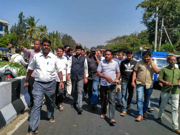 Mysore MP Pratap Simha inspected Nanjanagudu highway work